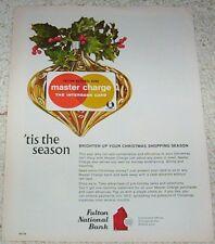 1971 print ad page - Master Charge credit card Interbank Fulton Bank advertising