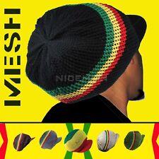 Fishnet Mesh Nattydread Rasta Cap Hat Roots Reggae Rockers Africa Jamaica M/L