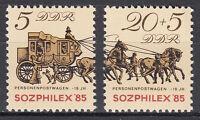 DDR 1985 Mi. Nr. 2965-2966 Postfrisch ** MNH
