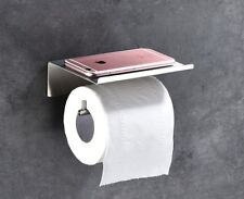 Brushed Toilet Paper Holder Self Adhesive Tissue for Roll Stainless Steel304