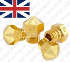 MK10 Screw Thread 0. 2 3 4 5 6 8 1mm 1.75mm M7 Brass Nozzle Creality Anet Reprap