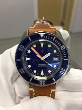 Seiko SKX007 custom-Seventies Navy Dial/CT coin edged bezel/Domed sapphire