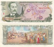 Billet banque COSTA RICA 5 colones 15 enero 1992 NEUF UNC NEW