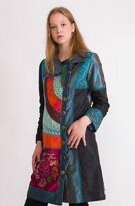 DESIGUAL Women's Coat Size 40 EU Linen & Wool Blend RRP: 249 EUR
