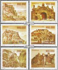 Joegoslavië 2608-2613 (compleet Kwestie) MNH 1993 Oud Forten