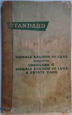 Original 1960s Standard Vanguard 6 Vignale & 4 Vignale de Luxe owner's manual