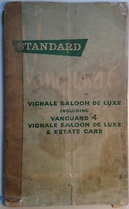 Original 1960s Standard Vanguard 6 Vignale & 4 Vignale de Luxe owner's manual