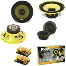 "KIT SISTEMA 2 VIE PYLE PLG6C 6,5"" 800 WATT 16,5 CM WOOFER TWEETER CROSSOVER AUTO"