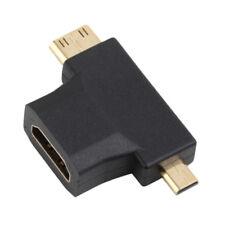 3 In 1 Micro Male Mini HDMI male to HDMI Female Cable Adapter ConverterSC