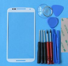Genuine Motorola Moto X+1 2nd Gen 2014 Front Outer Screen Glass Lens Part White