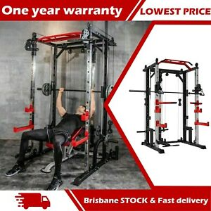 Heavy Duty Smith Machine Power Rack Squat Rack Pull Down Dip Bar Bench Press Hom