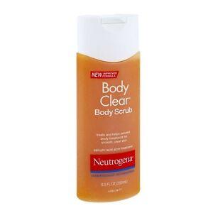 Neutrogena Body Clear Body Scrub, Salicylic Acid Acne Treatment 8.5 oz (250 ml)