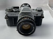 Canon AE-1 Film Camera & FD 50mm F1.8 S.C. Lens, New Seals, Excellent