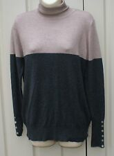 PAPAYA roll neck grey and beige  jumper size 16