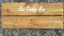 'Run Daddy Run' Wooden Medal Hanger, Large with 25 hooks