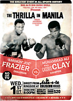 Thrilla In Manilla Muhammad Ali Vs Joe Frazier Boxing Print 8x10 Cassius Clay