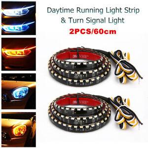 LED Headlight Strip Lights Exterior DRL Flexible Daytime Running Light Strips