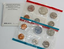 1970 P & D US Mint Annual Uncirculated 10 Coin Set Small Date Lincoln Variety #3