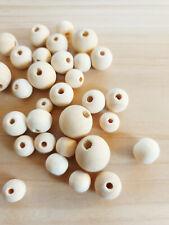 Natur Holzperlen zum Fädeln Schmuckzubehör Beads Spacer Basteln Deko 8-16mm