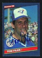 Tom Filer #439 signed autograph auto 1986 Donruss Baseball Trading Card