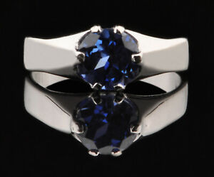 100% Natural Royal Blue Tanzanite 1.35Ct Round Shape Solitaire Ring In 14KT Gold