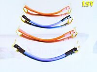 NEW VAN DAMME Professional Blue Series SPEAKER JUMPER CABLES x 4 (A Pair)