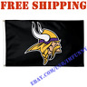 Deluxe Minnesota Vikings Logo Banner Flag BLACK 3x5 ft NFL 2019 Fan Home Decor