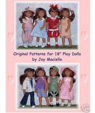 "For 18"" European Girl Euro Play Doll and Magic Attic Club Dolls Patterns"