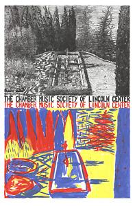 JENNIFER BARTLETT Chamber Music of Lincoln Center 35 x 23 Serigraph 1981 Contemp