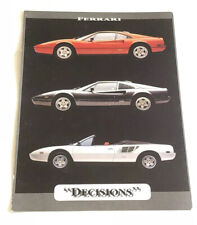 "Vintage Ferrari ""Decisions"" Postcard From the 80's - 5"" x 7"""