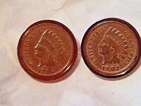 Authentic Indian Head Penny Cuff Links