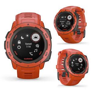 Garmin Instinct Flame Red Smart GPS Sports Runnning Swimming Multisport Watch
