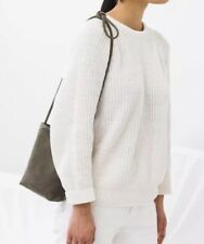 Baggu Nubuck Leather Suede Crossbody Bag Taupe