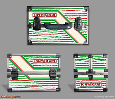 TONYKART TOOLBOX STICKER KIT - TO FIT MAPLINS TOOLBOX - SEE OUR SHOP - KARTING