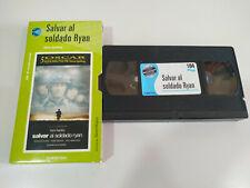Salvar al Soldado Ryan Steven Spielberg - VHS Cinta Tape Español - 2T