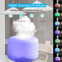 500ml Ultrasonic Essential Oil Aroma Diffuser Humidifier Air Purifier LED