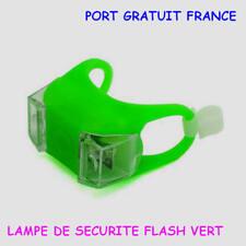 LAMPE LED  VELO FLASH VERT  / LED VELO / ECLAIRAGE DE SECURITE / SECURITE VELO