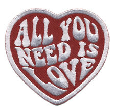 All You need is love Music Beatles Heart Hippie Peace Girls Denim Jacket Patch