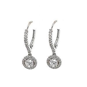 Messika Joy 18k White Gold Diamond Drop Earrings 0.82ct