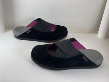 Crocs EDIE Mules Black Suede X Strap Slip-On Shoes Women's Size: 6 #15489