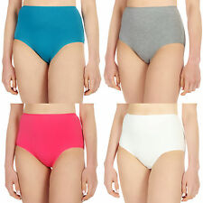 4 - 24 Pack Ladies Full Briefs Womens Cotton Underwear High Waisted Lingerie Lot