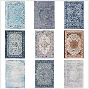 Stock Clearance Rug Red Blue Grey Gold Distressed Mandala Persian Carpet 160x230