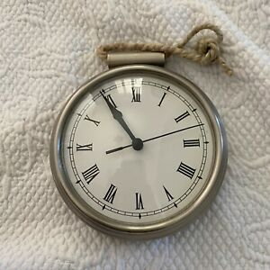 Pottery Barn Daily Organization System Hanging Clock Time Rare Home Office Slvr