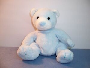 TY BABY  PLUFFIES -- TINKER --  BLUE BEAR / WHITE NOSE & EARS -- 2003 -- VGC