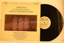 "Virgil Fox At The Organ/ Johann Sebastian Bach, Record 12"" VG"
