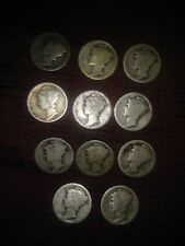 1917 S Mercury Dime AG--90% Silver-- About Good--Free shipping
