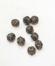 Beads Tibetan/Nepal Silver Glass Beads 16-18mm