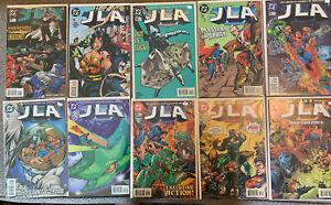 LOT OF 10 DC COMICS JLA #17-23 25 27 28