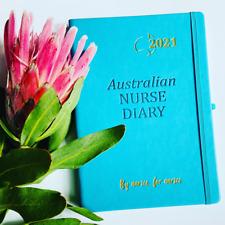 Nurse Diary 2021 - A5 PREMIUM Soft Leather Feel