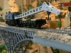 Ho Scale FLEISCHMANN Crane and Flat Boom Support Car EXTREMELY HEAVY DUTY new !